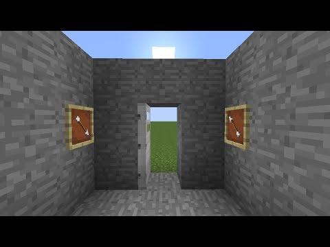 Minecraft Tutorial - Item Frame Combination Door Lock