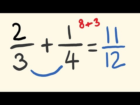 Adding Fractions math shortcut - mentally add fractions instantly