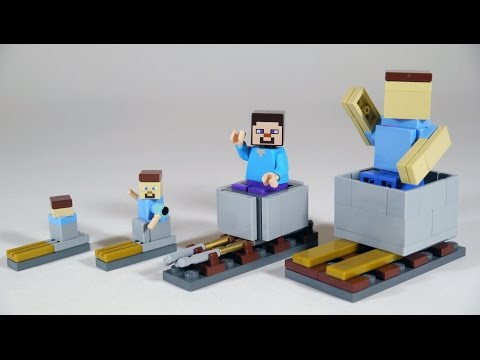 How To Build LEGO Minecraft Minecart & Rails