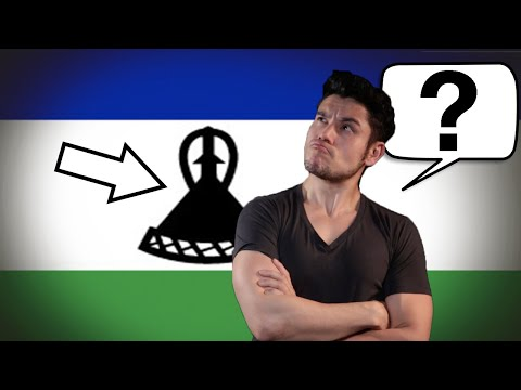 Flag/Fan Friday LESOTHO (Geography Now!)