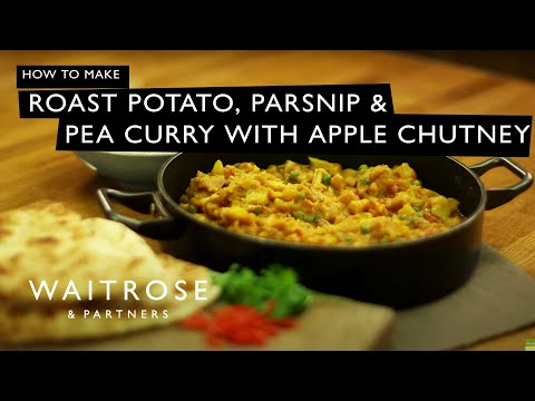 Roast Potato Parsnip and Pea Curry with Apple Chutney | Waitrose