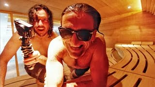 2 Dudes, A Sauna and a Video Camera