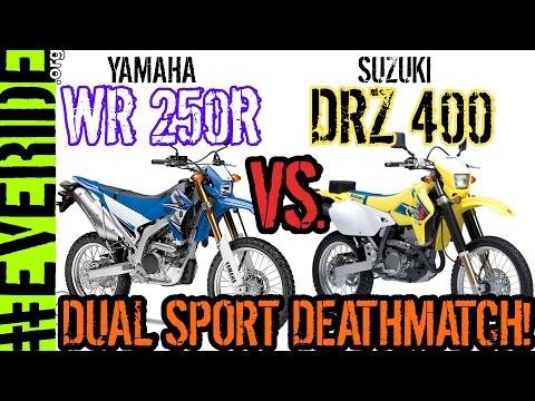 Yamaha WR250R vs Suzuki DRZ 400 DUAL SPORT DEATHMATCH! o#o