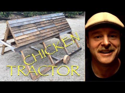 Reclaimed Pallet Chicken Tractor