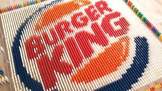 FAST FOOD LOGOS MADE FROM 25,000 DOMINOES   Satisfying Domino Screen Link