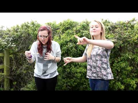 Paige and Charlotte doing the Cinnamon Challenge