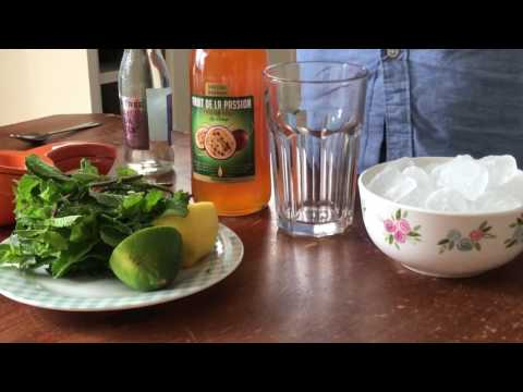 Passion fruit syrup with lime