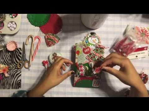 #18 🌲Christmas Treat Bag Flipbook Tutorial - Hot Cocoa & Tea - Holiday Gift & Basket Ideas