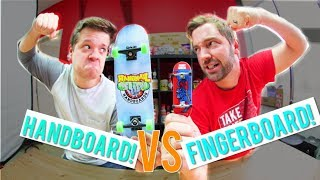 Fingerboard VS Handboard GAME OF S.K.A.T.E. / Andy Schrock Vs Casey Bechler