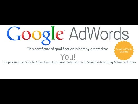 Google Adwords Fundamental Certification Exam