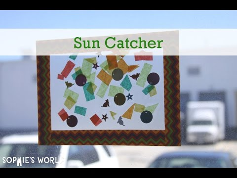 How to Make a Suncatcher Using Contact Paper | Sophie's World