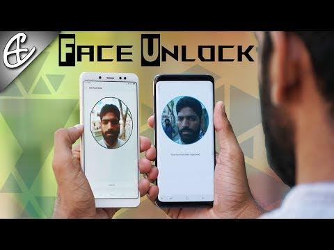 Samsung Galaxy S9 vs Redmi Note 5 Pro Face Unlock Battle!