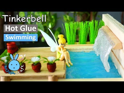 Hot Glue Waterfall Tutorial Tinkerbell Pool | Awesome Hot Glue DIY Life Hacks for Crafting Art #017