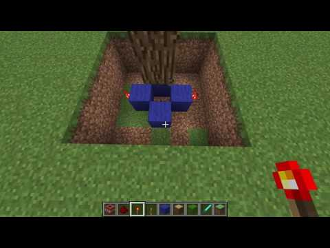 how to make a exploding tree trap on minecraft