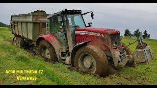 Massey Ferguson 6480  In The Mud   Case Ih Maxxum 125 , Manitou 845