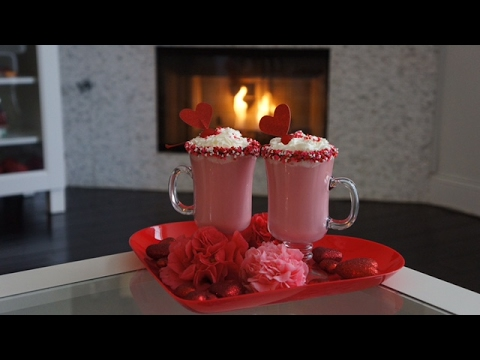 How to make velvet Pink Hot Chocolate