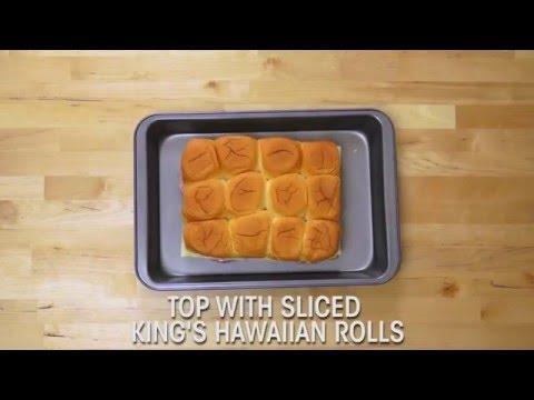 King's Hawaiian Recipes: Hawaiian Ham & Swiss Sliders