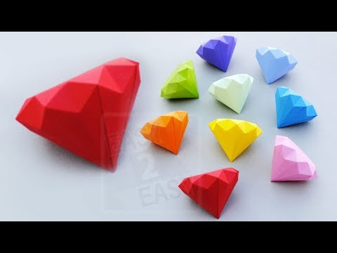 How to Make a Paper Diamond   easy Way