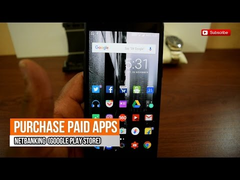 Purchase Paid Apps from Google Play Store Using Netbanking