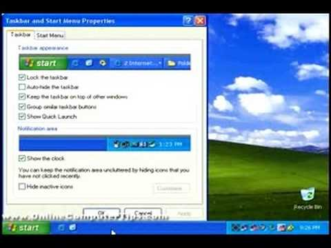 Customizing your Windows XP Start Menu and Taskbar