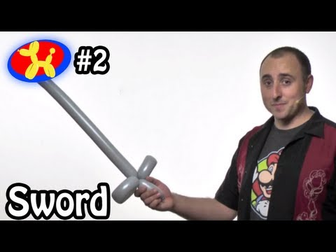 One Balloon Sword - Balloon Animal Lessons #2 ( globoflexia - espadas con globos)