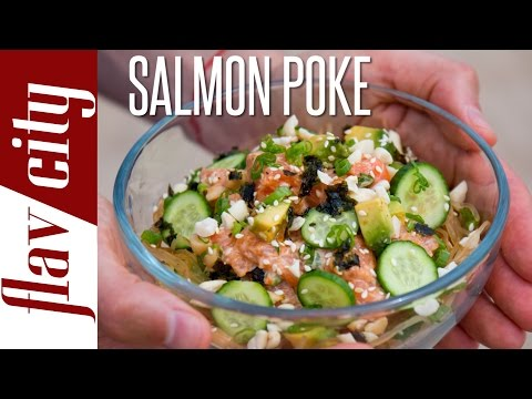 Salmon Poke Recipe - How To Make Salmon Poke - FlavCity w/ Bobby