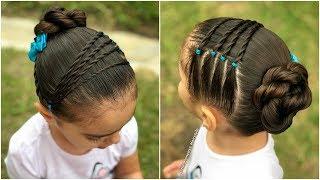 Peinado Para Ninas Con Coleta Cascada Y Ligas L P H