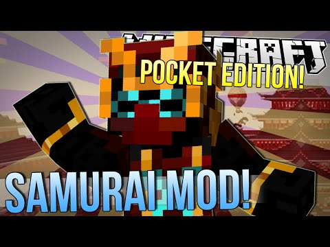 Minecraft Pocket Edition | SAMURAI MOD! | Mod Showcase