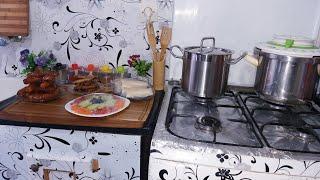 صبيحة ديالي في سابع يوم رمضان دجاج محمر فالكوكوط في 10د ..بوراك بحشو التون رااائع ..زلابية البنان
