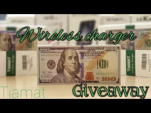 Tiamat $100 Bill Wireless Charger Giveaway