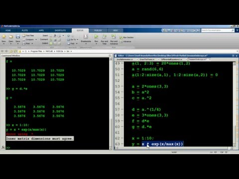 Array operations in MATLAB - 1
