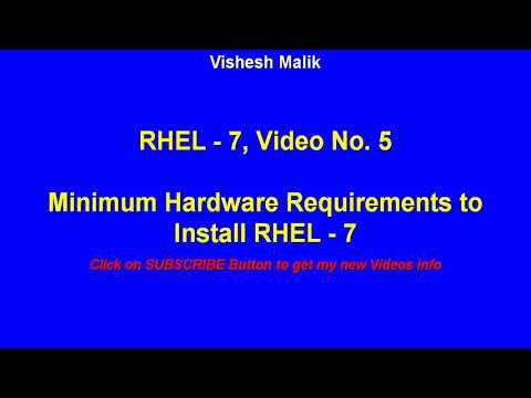 Minimum Hardware Requirements to install RHEL - 7, Video No   5