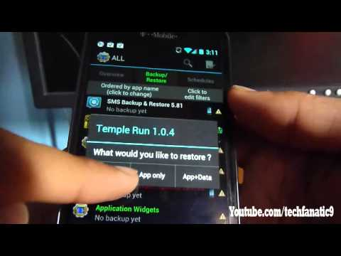 How to Backup And Restore App Data, SMS Texts, And Contacts! Works On Any Android!