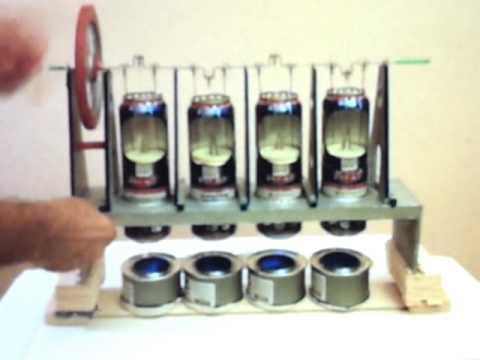 4 beer cans stirling engine(titanic model)
