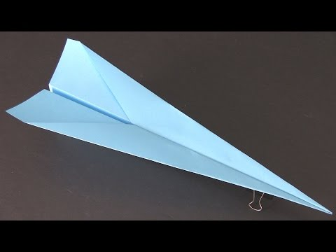 How to Make a Paper Airplane that Flies Far - Best Paper Planes in the World - Super Dart