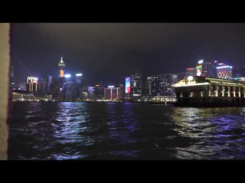 Hong Kong at night: Peak 360, Star Ferry and Lightshow from Kowloon 21st December 2015