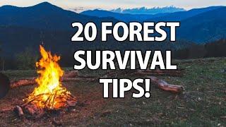 20 Wilderness Survival Tips!