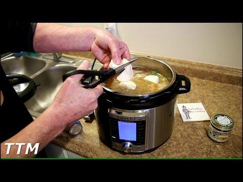 Instant Pot Turkey Soup with Dumplings