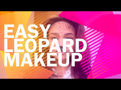 Easy Leopard Halloween Makeup
