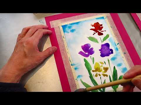 Learn watercolor freestyle 01 asmr?