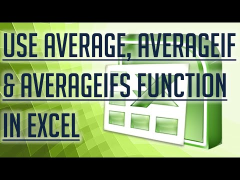 [Free Excel Tutorial] USE AVERAGE, AVERAGEIF & AVERAGEIFS FUNCTION IN EXCEL- Full HD