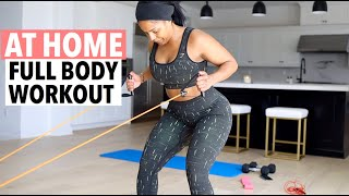 AT HOME FULL BODY WORKOUT ROUTINE | SHAYLA