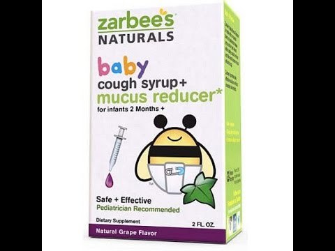 Zarbees Natruals Baby cough syrup& Mucus Reducer Review + Baby video