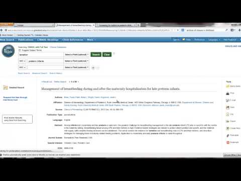 Requesting Articles With CINAHL