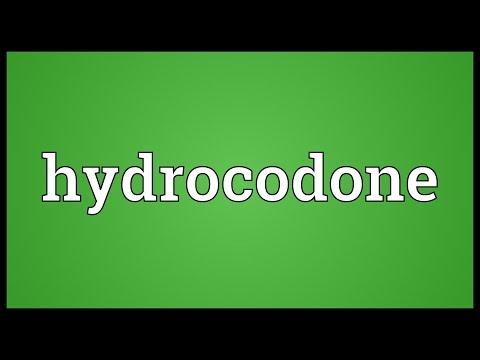 Hydrocodone Meaning