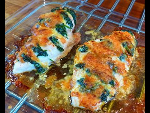 Roast Chicken with Cheese and Spinach