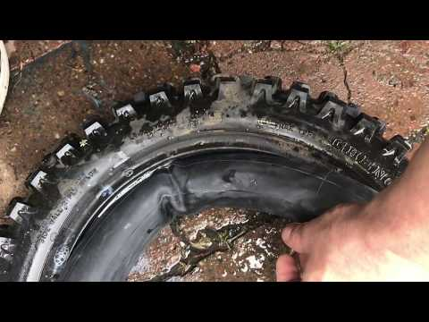 How to Change a Motorcycle Dirt Bike Knobby Tire