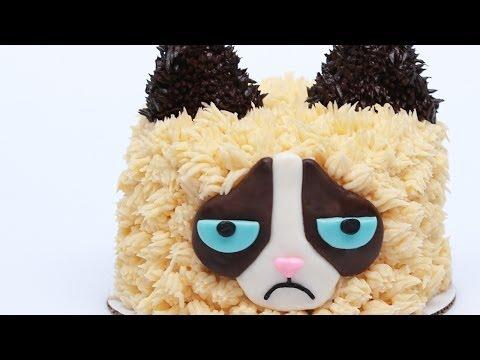 GRUMPY CAT CAKE - NERDY NUMMIES