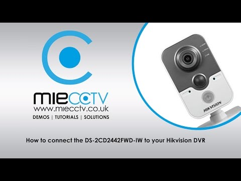 How to connect the DS-2CD2442FWD-IW 4MP IP Cube Camera to a Hikvision DVR or NVR via Wireless