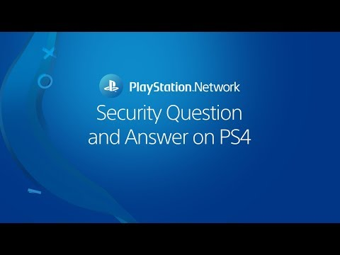 Choosing a security question and answer on PS4